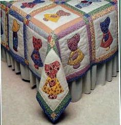 quilt patterns for boys | Applique QUILT PATTERN book: 'Sunbonnet Sue' farm girl & boy Quilt in ...