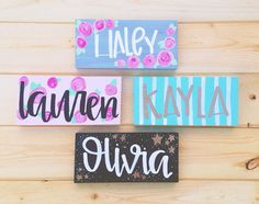 Customized Wood Sign by luckylanestudio on Etsy