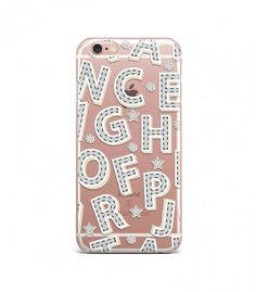 Amazing Grey Alphabet Pattern Clear or Transparent Iphone Case for Iphone 3G/4/4g/4s/5/5s/6/6s/6s Plus - ALPBH0029 - FavCases