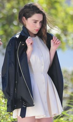 Emilia Clarke – Photoshoot candids in Los Angeles