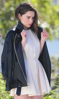 Emilia Clarke – Photoshoot candids in Los Angeles