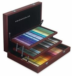 Prismacolor Wood Box Set | If you are an artist, you know that the better your raw materials, the better quality art you can produce. This is true even of a very basic art supply item, like colored pencils. Many of us have used some kind of colored pencil as children, but the colored pencils that professional artists use to create their drafts and final artwork are extremely different than the colored pencils we used as kids.