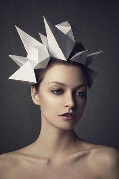 origami head pieces - Buscar con Google