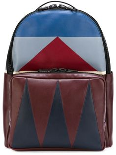 Shop Valentino Garavani  Patchwork  chevron backpack in Tiziana Fausti  Lugano from the world s best 0b9a5463b5219