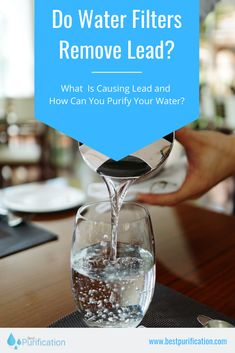 There is a constant debate around filters and lead. Thus, you can expect to remove lead from 40 to with the best filters. Learn more here! Best Water Filter, Whole House Water Filter, Water Filter Pitcher, Water Filters, Under Counter Water Filter, Countertop Water Filter, Water Well, Hard Water, Reverse Osmosis Water System
