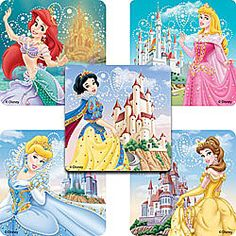 Cinderella In Garden Stickers from Smilemakers $5.99 for 75 | Ideas:  Princess Party | Pinterest