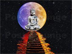 Renate Knapp Waldundwiesenfee - Buddha im Mond
