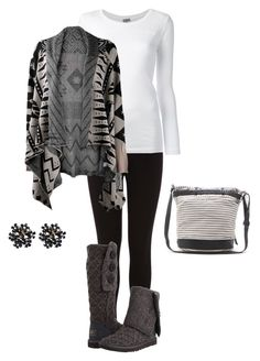 """""""Cozy Winter"""" by lishaque ❤ liked on Polyvore featuring Oasis, KristenseN du Nord, UGG Australia and Roxy"""