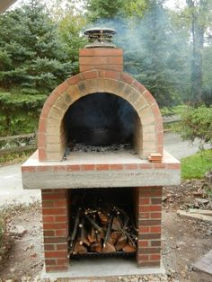 how to build wood oven fire
