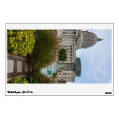 Missouri Capitol And Fountain Wall Sticker - walldecals home decor cyo custom wall decals
