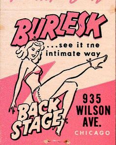 Looking for a TON of burlesque matchbook covers? Well, you can stop looking. | Dangerous Minds