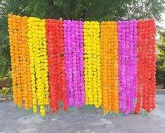 5 PC Lot Artificial Decorative Marigold Garland String, Wedding Decor Boho Flower, Diwali & Mandap Decor Real Look Artificial Flower String
