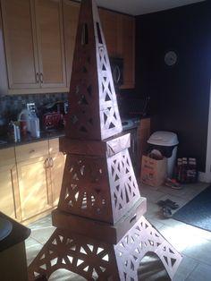 Cardboard Eiffel Tower