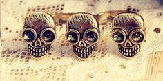 #Christine Purr Shoppe    #ring                     #Three #Skulls #Double #Ring #Vintage #Punk #Size   Three Skulls Double Ring Vintage Punk Size 5                                  http://www.seapai.com/product.aspx?PID=1273026