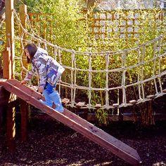 another swinging bridge and ramp