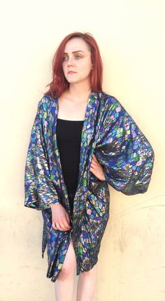 Metallic Duster Kimono Jacket Stained by strangemagickvintage, $48.00