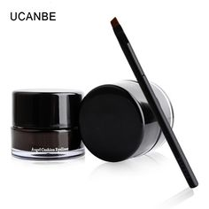 UCANBE Brand Black Brown Eyeliner Gel Waterproof Tattoo Delineador Angel Cushion Eye Liner Liquid Llasting with Brush Makeup Set