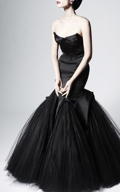 Zac Posen Mermaid Duchess Evening Gown