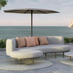 Tolles Loungesofa aus hochwertigen Materialien. In sehr vielen Ausführungen und Stoffen erhältlich. Perfekt für jede Terrasse oder Garten. Schmidt, Royal Botania, Villa, Lounge, Sofa, Patio, Outdoor Decor, Home Decor, Stool