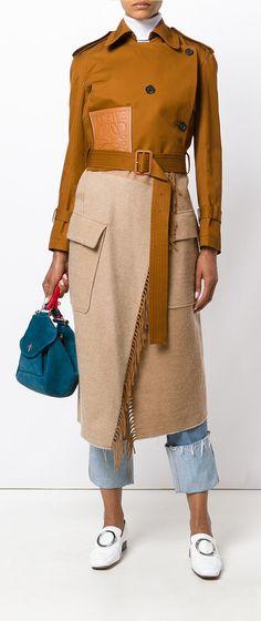 LOEWE Blanket trench coat, explore new season Loewe on Farfetch now.