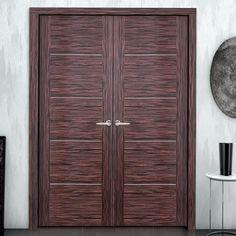 Sanrafael Lisa Flush Double Fire Door - L84 Style Reconstituted Ebony Prefinished. #flushdoublefiredoors #doubledoors #designerfiredoors