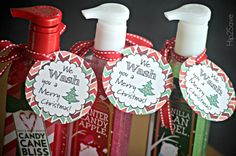 Hipsters to the Rescue: Teacher Gift Ideas Needed (+ Cute Bath & Body Works Hand Soap Idea Check out this email I received from reader Melissa – With that being said, if you're looking for an affordable gift idea for teach # Christmas Soap, Neighbor Christmas Gifts, Merry Christmas, Easy Diy Christmas Gifts, Christmas Gifts For Friends, Neighbor Gifts, Christmas Ideas, Christmas Labels, Christmas Presents