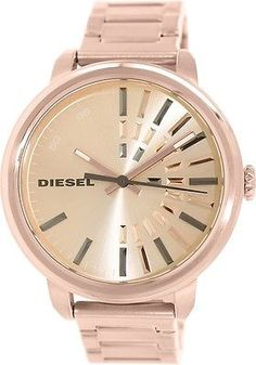 Diesel Womens Flare DZ5418 Rose-Gold Stainless-Steel Analog Quartz Watch