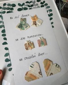 Wedding Gifts, Origami, Presents, Ideas, Magnifying Glass, Cash Gifts, Wedding Day Gifts, Gifts, Wedding Favors