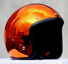 Masei Orange Chrome 610 Open Face Motorcycle Helmet