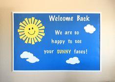 Welcome Back Bulletin Board, Ready Made Sunshine Bulletin Board Set, Ready Made School Bulletin Board, Classroom Bulletin Board