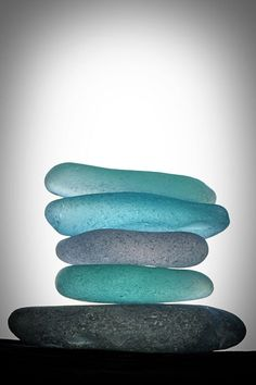 Sea glass washed up on Largo Bay, create the beautiful aqua pebbles that inspired the rich blue-green tone of David Mach RA's 'Largo Bay'. http://www.colourandpaint.com/brand/royal-academy/collections/david-mach-ra.html