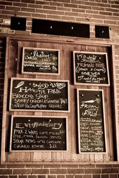 chalkboards @Heather Creswell Muir and @Dani Allen, what do you think of having several small frames?