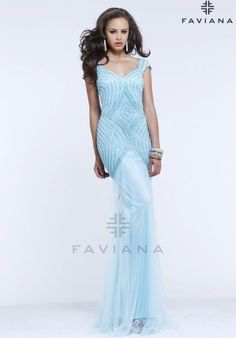 Faviana Dress S7379 at Peaches Boutique