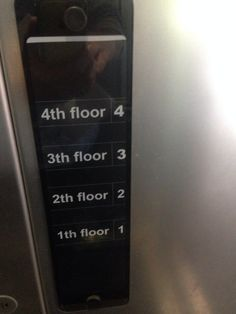 Whoever wanted to go to the 3th, 2th, or 1th floors. | 21 Designers Who Totally Screwed Up Their One Job