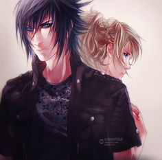 Noctis and Luna by ilaBarattolo on DeviantArt