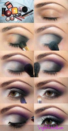 Makeup Tutorial for Hazel Eye, Silver Grey eyes, evening makeup