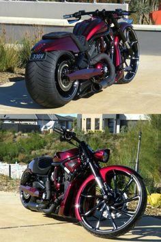 "Harley-Davidson® VRod ""Big Wheel"" by Curran Customs Harley V Rod, Harley Bikes, Harley Davidson Motorcycles, Custom Motorcycles, Custom Bikes, Iron Man Wallpaper, Diy Wall Painting, Harley Davison, Custom Harleys"