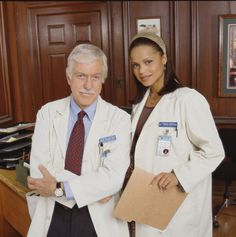 Dick Van Dyke and Victoria Rowell in Diagnosis Murder