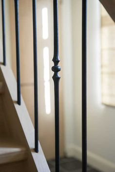 Detail smeedijzeren balusters (Ontwerp: Leen Jacobs - Crejalee.be)