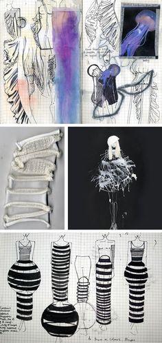 moda cuadernos de bocetos de diseño - inspirado por las medusas