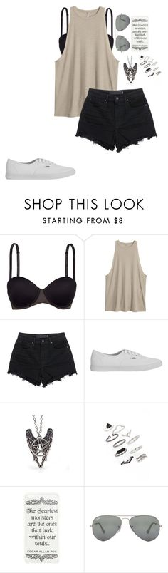 """Untitled #676"" by breemanor on Polyvore featuring SPANX, Alexander Wang, Vans, Topshop and Ray-Ban"