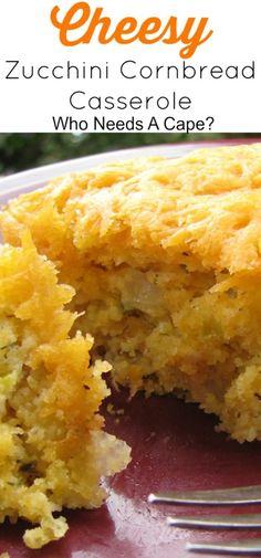 Cheesy Zucchini Cornbread Casserole ~ Great way to use your zucchini and spruce up any meal! This will be a new family favorite, trust me! Make sure to squeeze the shreded zucchini a little before you add it to the mix. Cornbread Casserole, Casserole Dishes, Casserole Recipes, Cheesy Cornbread, Zucchini Cornbread, Zucchini Casserole, Squash Cornbread Recipe, Jiffy Cornbread Recipes, Vegetable Dishes