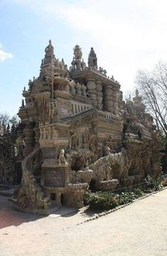 A French postman spent 33 years building a palace out of stones he picked up on his daily mail round.