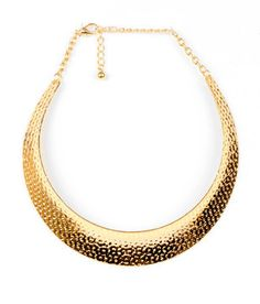 Gold Bib Necklace