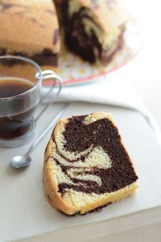 Chic, chic, chocolat...: Gâteau mousseline marbré {marble chiffon cake}