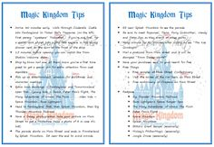 A Sprinkle of This . . . .: Tips for Disney World - Magic Kingdom