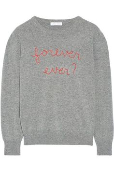 LINGUA FRANCA Forever Ever? embroidered cashmere sweater. #linguafranca #cloth #knitwear