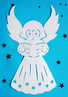 Вытынанки Diy And Crafts, Paper Crafts, Angel Images, Christian Christmas, Scroll Saw, Kirigami, Handicraft, Paper Cutting, Smurfs