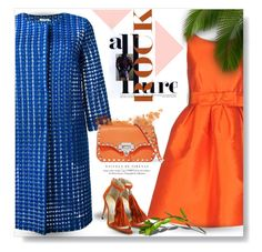 """""""Cool Blue & Hot Orange..."""" by desert-belle ❤ liked on Polyvore featuring P.A.R.O.S.H., Jimmy Choo, Valentino, polyvoreeditorial and dreamydresses"""