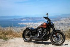 Alexis' Harley Davidson Fat Bob with extended Voodoo Fender | Rocket Bobs